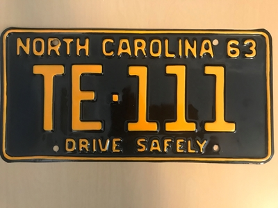 Picture of 1963 North Carolina Car #TE-111