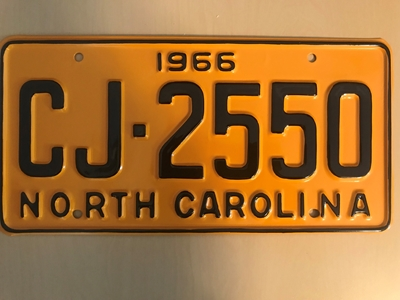 Picture of 1966 North Carolina Car #CJ-2550