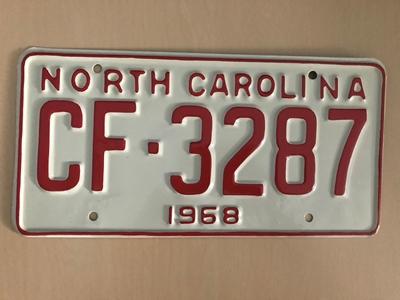 Picture of 1968 North Carolina Car #CF-3287