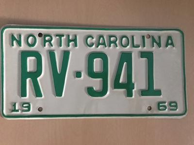 Picture of 1969 North Carolina Car #RV-941