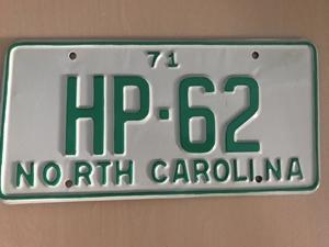 Picture of 1971 North Carolina Car #HP-62
