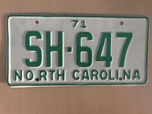 Picture of 1971 North Carolina Car #SH-647
