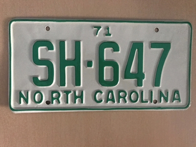 Picture of 1971 North Carolina Car #SH-647