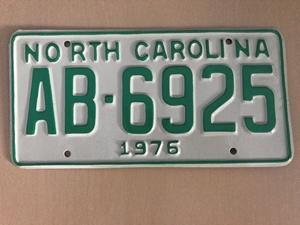Picture of 1976 North Carolina Car #AB-6925