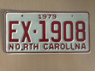 Picture of 1979 North Carolina Car #EX-1908