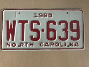 Picture of 1980 North Carolina Car #WTS-639