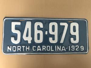 Picture of 1929 North Carolina Car #546-979