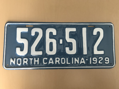 Picture of 1929 North Carolina Car #526-512