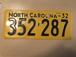 Picture of 1932 North Carolina Car  #352-287