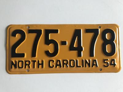 Picture of 1954 North Carolina Car #275-478