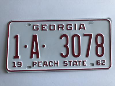 Picture of 1962 Georgia Car #1-A-3078