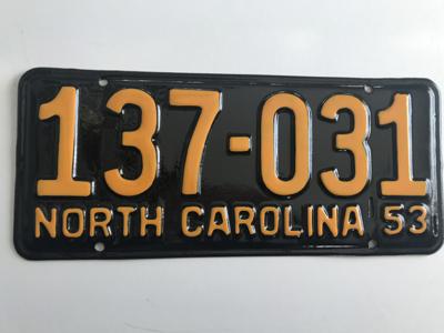 Picture of 1953 North Carolina Car #137-131
