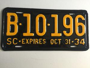 Picture of 1934 South Carolina #B-10-196