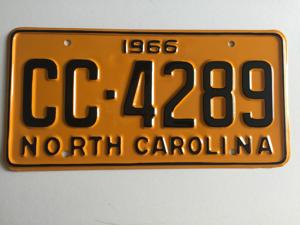 Picture of 1966 North Carolina Car #CC-4289