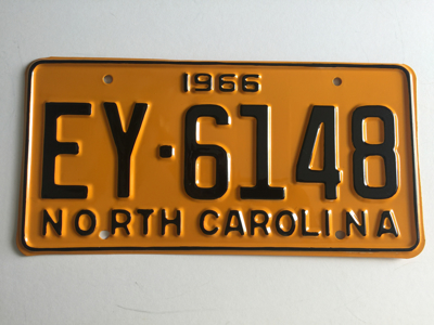 Picture of 1966 North Carolina Car #EY-6148