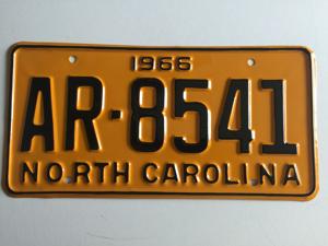 Picture of 1966 North Carolina Car #AR-8541