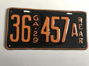Picture of 1929 Georgia #36-457 rear