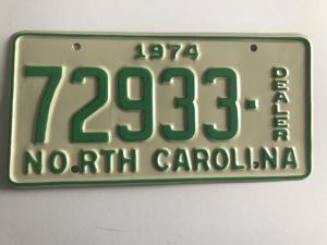Picture of 1974 North Carolina Dealer #72933