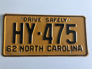 Picture of 1962 North Carolina Car #HY-472