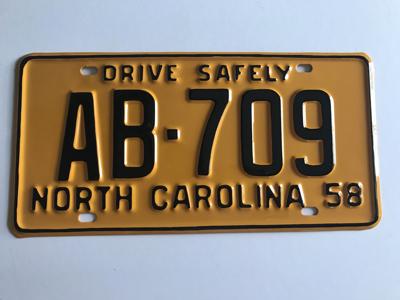 Picture of 1958 North Carolina Car #AB-709