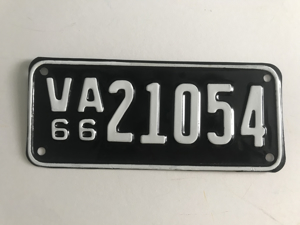Picture of 1966 Virginia Motorcycle Plate