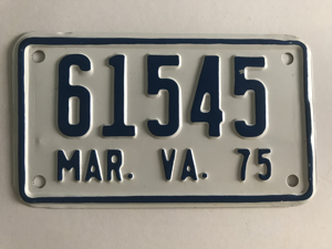 Picture of 1975 Virginia Motorcycle Plate