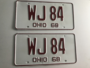 Picture of 1968 Ohio Pair #WJ 84
