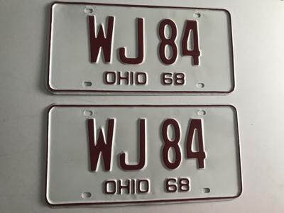 Picture of 1968 Ohio Pair #WJ 84
