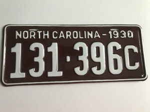 Picture of 1930 North Carolina Car #131-396c