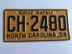 Picture of 1958 North Carolina Car #CH-2480