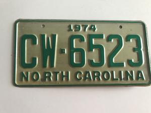 Picture of 1974 North Carolina Car #CW-6523