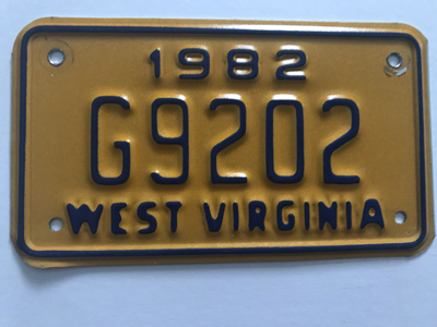 Picture of 1982 West Virginia #G9202