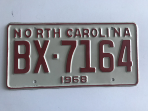 Picture of 1968 North Carolina Car #BX-7164