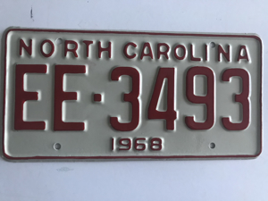 Picture of 1968 North Carolina Car #EE-2493