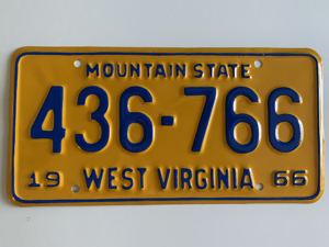 Picture of 1966 West Virginia #436-766