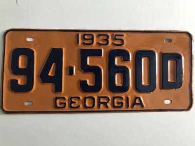 Picture of 1935 Georgia #94-560D