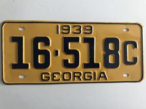 Picture of 1939 Georgia #16-518C