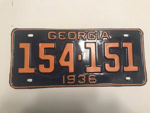 Picture of 1936 Georgia #154-151