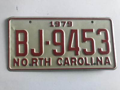Picture of 1979 North Carolina #BJ-9453