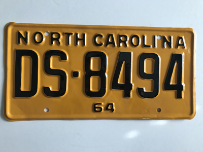 Picture of 1964 North Carolina Car #DS-8494